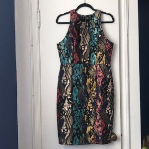 Patterned Textured Dress